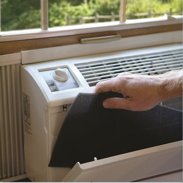 remove window air conditioner filter
