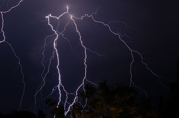 air conditioner during a thunderstorm