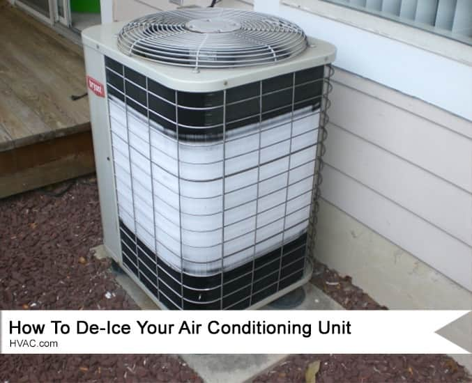 How To De Ice An Air Conditioning Unit Hvac Com