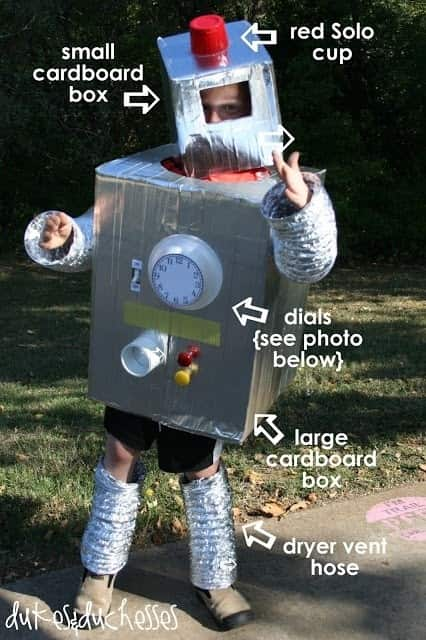 Diy halloween decor costumes hvac style for Robotic halloween decorations
