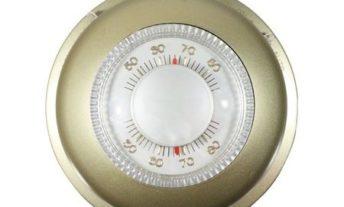 圆形的 thermostat