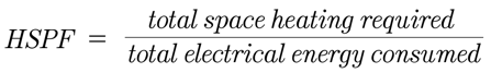 HSPF formula