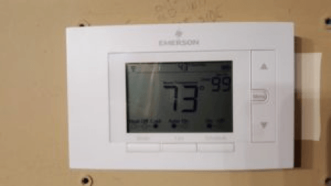 wifi HVAC thermostat in church