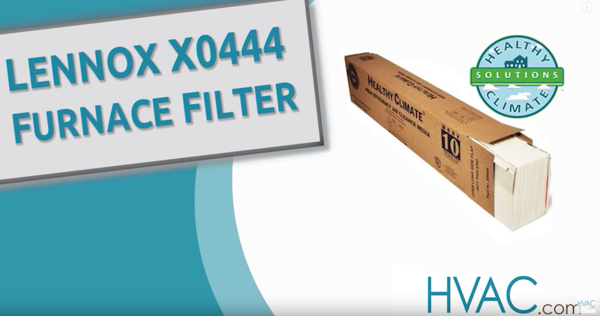 Lennox X0444 Furnace Filter Overview
