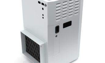 white gas furnace on white background