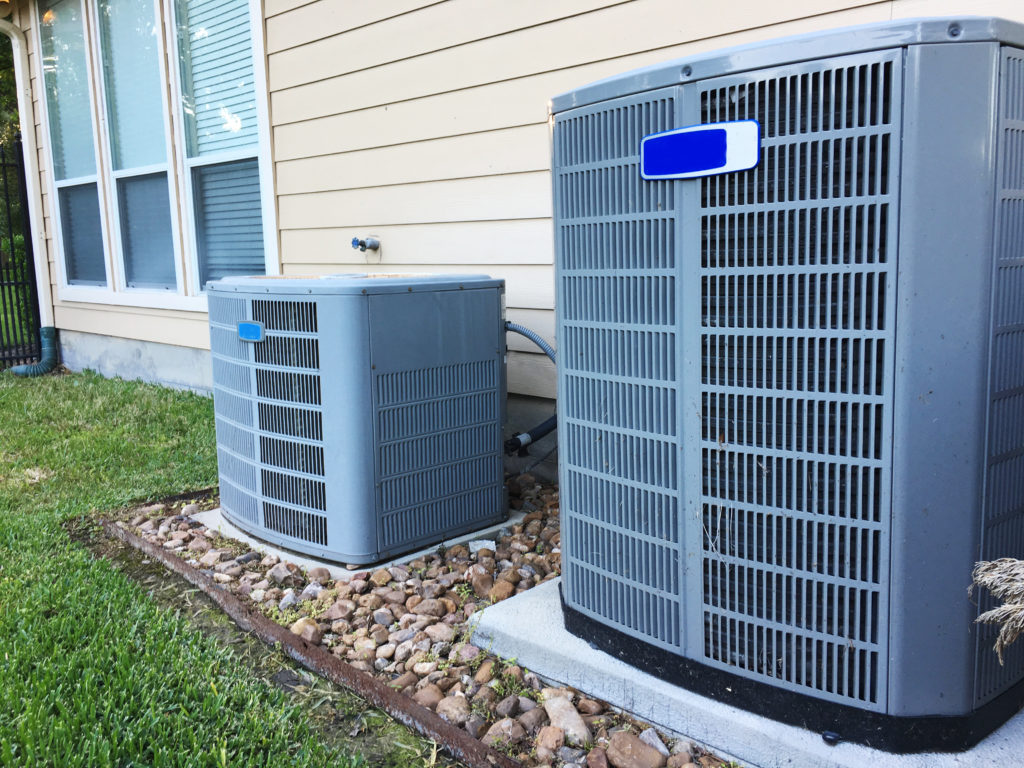 two hvac units outside