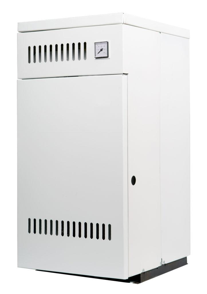 White furnace on white background